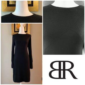 Banana Republic Black Medium Shreth Sweater Dress
